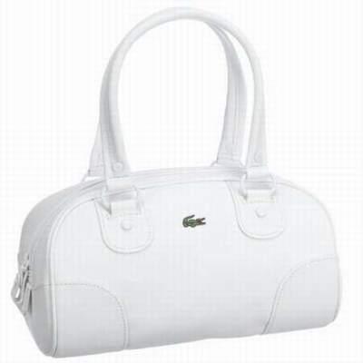 e07da73f8e9 sac bandouliere lacoste blanc