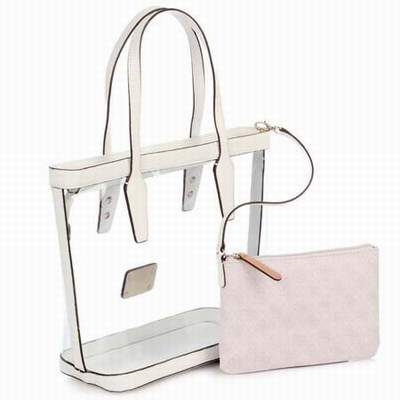 sac a main rose transparent,sac transparent guess,sac